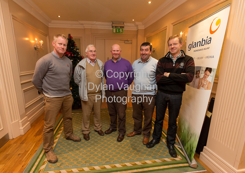 Repro Free no Charge for Repro<br /> 3-12-14<br /> <br /> Pictured at the Glanbia Information Meeting at the Newpark Hotel in Kilkenny was Pat Holden, Mullinavat Co. Kilkenny; Pat Coady, Glanbia; Padraig Walsh, Mullinavat Co. Kilkenny; PJ Malone, Mullinavat Co. Kilkenny and Patrick Holden Mullinavat Co. Kilkenny.<br /> <br /> Picture Dylan Vaughan.