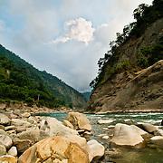 Nantz shien river in Jiashen County, Kaohsiung County, Taiwan