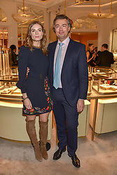 Laurent Feniou and Rosie Tapner at the reopening of the Cartier Boutique, New Bond Street, London, England. 31 January 2019. <br /> <br /> ***For fees please contact us prior to publication***