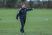 York City Manager Jackie McNamara  York City FC Training Session at Bootham Crescent, York, England on 27 November 2015. Photo by Simon Davies.