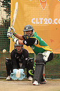 Peter Ingram of the Central Stags attempts to sweep a deliver during the Central Stags training session held at St Georges Park in Port Elizabeth on the 17 September 2010..Photo by: Shaun Roy/SPORTZPICS/CLT20