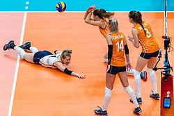 20-10-2018 JPN: Final World Championship Volleyball Women day 18, Yokohama<br /> China - Netherlands 3-0 / Anne Buijs #11 of Netherlands, Anne Buijs #11 of Netherlands