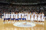 DESCRIZIONE : Roma Amichevole preparazione Eurobasket 2007 Italia Grecia <br /> GIOCATORE : Team Nazionale Italia Uomini Team Grecia<br /> SQUADRA : Nazionale Italia Uomini <br /> EVENTO : Amichevole preparazione Eurobasket 2007 Italia Grecia <br /> GARA : Italia Grecia <br /> DATA : 30/08/2007 <br /> CATEGORIA : Ritratto<br /> SPORT : Pallacanestro <br /> AUTORE : Agenzia Ciamillo-Castoria/G.Ciamillo<br /> Galleria : Fip Nazionali 2007 <br /> Fotonotizia : Roma Amichevole preparazione Eurobasket 2007 Italia Grecia <br /> Predefinita : si