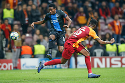 November 26, 2019, Galatasaray, Turkey: Club's David Okereke and Galatasaray's Ryan Donk fight for the ball during a game between Turkish club Galatasaray and Belgian soccer team Club Brugge, Tuesday 26 November 2019 in Istanbul, Turkey, fifth match in Group A of the UEFA Champions League. (Credit Image: © Bruno Fahy/Belga via ZUMA Press)