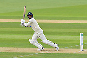 Sam Curran of England attacks the bowling during the first day of the 4th SpecSavers International Test Match 2018 match between England and India at the Ageas Bowl, Southampton, United Kingdom on 30 August 2018.