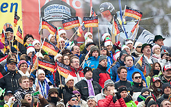 11.03.2010, Goudyberg Damen, Garmisch Partenkirchen, GER, FIS Worldcup Alpin Ski, Garmisch, Lady Giant Slalom, im Bild Feature, Fans mit der Nationalflagge von Deutschland, EXPA Pictures © 2010, PhotoCredit: EXPA/ J. Groder / SPORTIDA PHOTO AGENCY