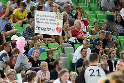 Supporter of Zmajcice during basketball event Kosarkaska simfonija - last offical basketball match of Bostjan Nachbar and Sani Becirovic, on August 30, 2018 in Arena Stozice, Ljubljana, Slovenia. Photo by Urban Urbanc / Sportida