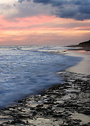 sunset at beach near Point Lonsdale Lighthouse on the Bellarine Peninsula