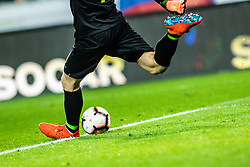 Jan Oblak of Slovenia during football match between National teams of Slovenia and North Macedonia in Group G of UEFA Euro 2020 qualifications, on March 24, 2019 in SRC Stozice, Ljubljana, Slovenia.  Photo by Matic Ritonja / Sportida
