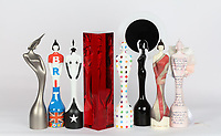 """The BRIT Awards 2011-2018,The BRIT Awards revealed the 2018 BRIT Award, created by acclaimed sculptor Sir Anish Kapoor. <br /> The BRIT Awards has an eight-year tradition of inviting iconic British artists to design the Award, and we've seen all manner of wonderful interpretations. But Kapoor's reimagined Britannia, cast and encased in a solid block in the artist's signature blood red hue is special; like nothing we've seen before. He told journalists, """"I am pleased to have designed the BRIT award for 2018. Sculpture is often a process of positive and negative form. I have made the award using both.""""<br /> <br /> From Left to Right:<br /> 2017 Dame Zaha Hadid<br /> 2012 Sir Peter Blake<br /> 2016 Pam Hogg<br /> 2018 Sir Anish Kapoor<br /> 2013 Damien Hirst<br /> 2014 Philip Treacy<br /> 2011 Dame Vivienne Westwood<br />2015 Tracey Emin CBE<br /> Photo:John Marshall/JM Enternational"""