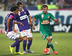 12.08.2015, Generali Arena, Wien, AUT, 1. FBL, FK Austria Wien vs SK Rapid Wien, 4. Runde, im Bild Roi Kehat (FK Austria Wien), Christoph Martschinko (FK Austria Wien) und Philipp Schobesberger (SK Rapid Wien) // during Austrian Football Bundesliga Match, 4th Round, between FK Austria Vienna and SK Rapid Vienna at the Generali Arena, Vienna, Austria on 2015/08/12. EXPA Pictures © 2015, PhotoCredit: EXPA/ Thomas Haumer