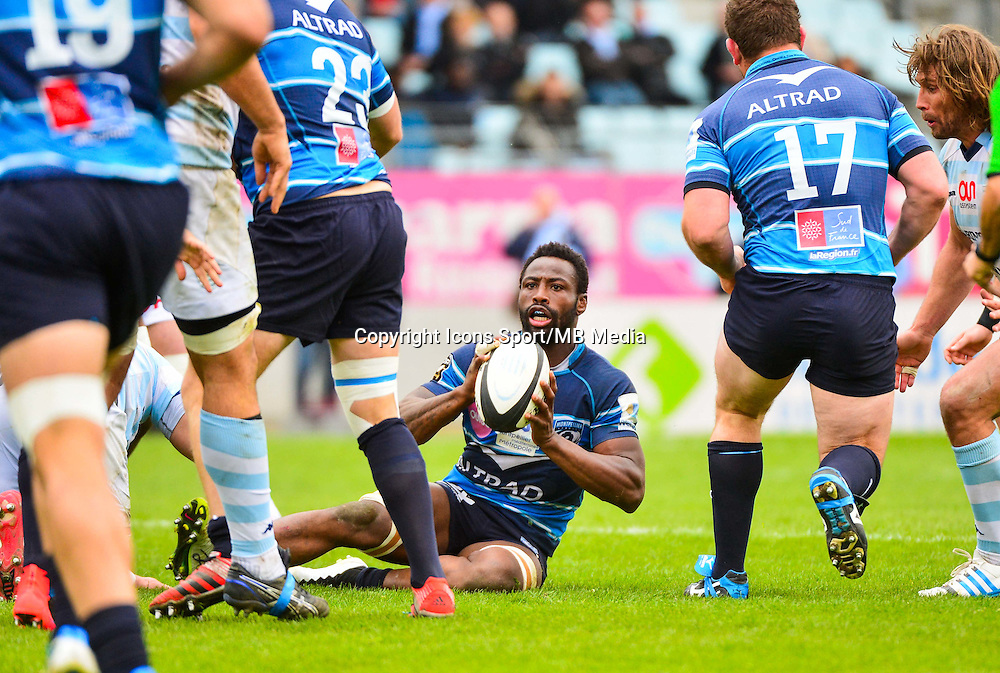 Fulgence OUEDRAOGO  - 11.04.2015 - Racing Metro / Montpellier  - 22eme journee de Top 14 <br />