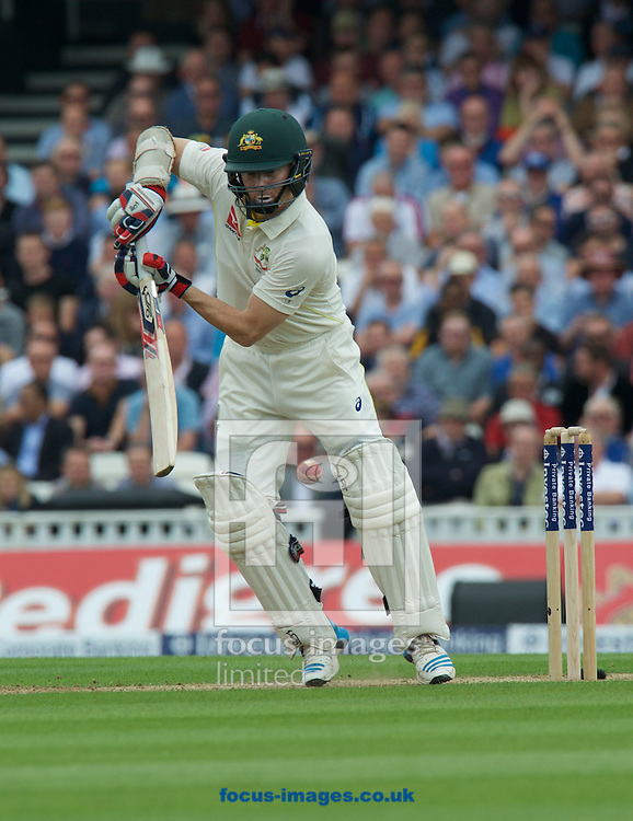 Chris Rogers of Australia batting during the 5th Investec Ashes Test Match match at the Kia Oval, London<br /> Picture by Alan Stanford/Focus Images Ltd +44 7915 056117<br /> 20/08/2015