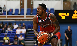 Panos Mayindombe of Bristol Flyers in possesssion - Photo mandatory by-line: Arron Gent/JMP - 28/09/2019 - BASKETBALL - Crystal Palace National Sports Centre - London, England - London City Royals v Bristol Flyers - British Basketball League Cup