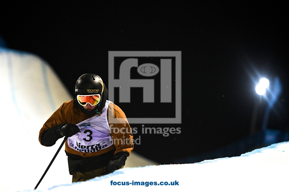 Aaron Blunck (USA) on his way to winning the gold medal during the Men's Half Pipe Final on Day Eleven of the FIS Freestyle Ski &amp; Snowboard World Championships 2017 at Sierra Nevada Ski Station, Granada<br /> Picture by Kristian Kane/Focus Images Ltd +44 7814 482222<br /> 18/03/2017