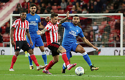 Colin Daniel of Peterborough United in action with Chris Maguire of Sunderland - Mandatory by-line: Joe Dent/JMP - 02/10/2018 - FOOTBALL - Stadium of Light - Sunderland, England - Sunderland v Peterborough United - Sky Bet League One