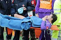 Firenze 05/03/2006<br /> Fiorentina-Siena<br /> Nella foto pazienza esce dal campo in barella dopo un infortunio di gioco<br /> Photo Luca Pagliaricci Graffiti