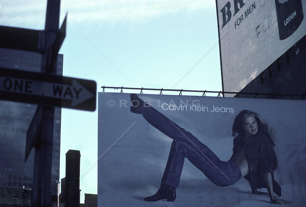 Billboard of Brook Shields In a Calvin Klein Advertisement in New York City