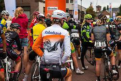 Thalita de Jong of Rabo Liv Women Cycling Team waiting for the start at the Holland Ladies Tour, Zeddam, Gelderland, The Netherlands, 1 September 2015.<br /> Photo: Pim Nijland / PelotonPhotos.com