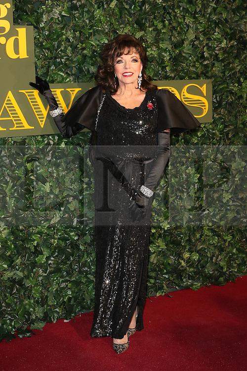 © Licensed to London News Pictures. 13/11/2016. London, UK, Joan Collins, Evening Standard Theatre Awards, Photo credit: Richard Goldschmidt/LNP