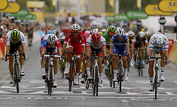 July 29, 2018 - Paris Champs-Elysees, France - PARIS CHAMPS-ELYSEES, FRANCE - JULY 29 : KRISTOFF Alexander (NOR) of UAE Team Emirates celebrates the win, DEGENKOLB John (GER) of Trek - Segafredo, DEMARE Arnaud (FRA) of FDJ, HAGEN Edvald Boasson (NOR) of Team Dimension Data, RICHEZE Maximiliano Ariel (ARG) of Quick - Step Floors   during stage 21 of the 105th edition of the 2018 Tour de France cycling race, a stage of 116 kms between Houilles and Paris Champs-Elysees on July 29, 2018 in Paris Champs-Elysees, France, 29/07/18 (Credit Image: © Panoramic via ZUMA Press)