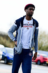 Levi Bradley of Bristol Flyers arrives at SGS College Arena prior to kick off - Photo mandatory by-line: Ryan Hiscott/JMP - 16/02/2020 - BASKETBALL - SGS College Arena - Bristol, England - Bristol Flyers v Solent Kestrels - British Basketball League Trophy semi-final