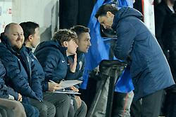 05.03.2014, AFG Arena, St. Gallen, SUI, Testspiel, Schweiz vs Kroatien, im Bild Trainer Niko Kovac (CRO) im Gespraech mit Robert Kovac, Branimir Ujevic // during the International Friendly match between Switzerland and Croatia at the AFG Arena in St. Gallen, Switzerland on 2014/03/06. EXPA Pictures © 2014, PhotoCredit: EXPA/ Freshfocus/ Andy Mueller<br /> <br /> *****ATTENTION - for AUT, SLO, CRO, SRB, BIH, MAZ only*****