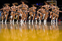 27 March 2007: The Laker Girls perform during a time out during the game between the Memphis Grizzlies and the Los Angeles Lakers during the Grizzlies 88-86 victory over the Lakers at the STAPLES Center in Los Angeles, CA.