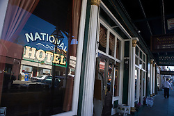 Window of the National Hotel, Nevada City, California, United States of America