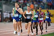Filip Ingebrigtsen (NOR) and Andrew Buchart (GBR) run in the 5,000m during the 39th Golden Gala Pietro Menena in an IAAF Diamond League meet at Stadio Olimpico in Rome on Thursday, June 6, 2019. (Jiro Mochizuki/Image of Sport)