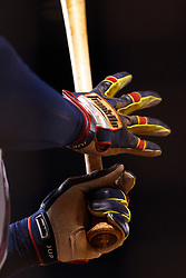 SAN FRANCISCO, CA - MAY 13:  Detailed view of Franklin batting gloves gripping a baseball bat on the hands of Justin Upton #8 of the Atlanta Braves during the ninth inning against the San Francisco Giants at AT&T Park on May 13, 2014 in San Francisco, California.  The Atlanta Braves defeated the San Francisco Giants 5-0.  (Photo by Jason O. Watson/Getty Images) *** Local Caption *** Justin Upton