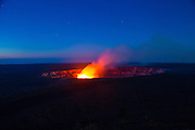 Halemaumau Crater Erupting, Hawaii Volcanoes National Park, Kilauea Volcano, Big Island of Hawaii