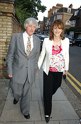 FRANK JOHNSON and his wife VIRGINIA JOHNSON at Sir David & Lady Carina Frost's annual summer party held in Carlyle Square, Chelsea, London on 5th July 2006.<br /><br />NON EXCLUSIVE - WORLD RIGHTS