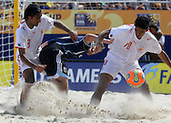 Footbal-FIFA Beach Soccer World Cup 2006 -  Oficial Games BHR x ARG - Asoor and Hassan- Brazil - 04/11/2006.<br />