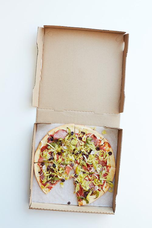 Italian Pizza - Pepperoni, Salami and Pepperoncini
