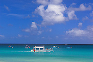 Glass Bottom Boat, Surfside Beach, Holetown, West Coast, Barbados, Caribbean