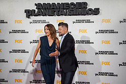 Image ©Licensed to i-Images Picture Agency. 16/07/2014. Madrid, Spain. Actress Keri Russell and Actor Andy Serkis attends the 'Dawn Of The Planets Of The Apes' premiere at Capitol Cinema. Picture by DyD Fotografos / i-Images<br /> SPAIN OUT