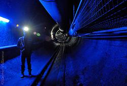 FOT&Oacute;GRAFO: Jaime Villaseca ///<br /> <br /> Tunel de exploraci&oacute;n en mina Los Bronces, 3700 mts. altura.