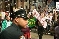 Demonstration in NEw York against war.