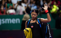 October 24, 2018 - SINGAPORE - Naomi Osaka of Japan in action during her second match at the 2018 WTA Finals tennis tournament (Credit Image: © AFP7 via ZUMA Wire)