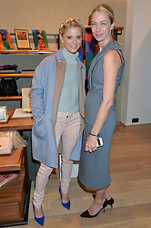 Left to right, EMILIA FOX and SHEILA MCKAIN WAID creative director of Jaeger at a party to celebrate the re-opening of the Jaeger Chelsea Store in association with the NSPCC at 145 Kings Road, London on 24th September 2014.