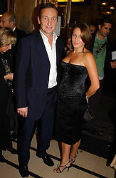 RICHARD DUNWOODY and EMMA SAXBY at the opening night of the musical Murderous Instincts at The Savoy Theatre, London on 7th October 2004.<br /><br />NON EXCLUSIVE - WORLD RIGHTS