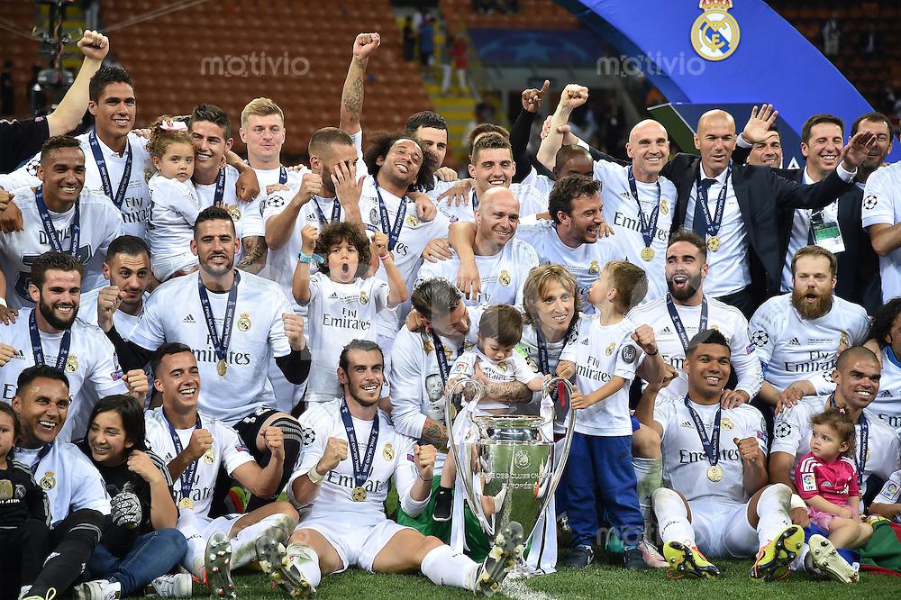 FUSSBALL  CHAMPIONS LEAGUE  FINALE  SAISON 2015/2016   Real Madrid - Atletico Madrid                   28.05.2016 Teamfoto Real Madrid