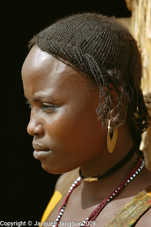 Africa, Chad, portrait of girl on islands of Lake Chad.