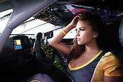 March 16-18, 2017: Mobil 1 12 Hours of Sebring. Grid girl in the 27 Dream Racing Motorsport, Lamborghini Huracan GT3