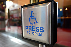 Embargoed to 0001 Thursday February 21 File photo dated 15/9/2014 of a Disabled entrance door button. Almost one in five disabled workers have had a job offer withdrawn because of their health condition, a study suggests.