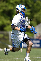 06 May 2007: Duke Blue Devils midfielder Ned Crotty (22) during a 19-6 victory over the Air Force Falcons at Koskinen Stadium in Durham, NC.