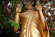 Luang Prabang, Laos. Buddhist statuary at Wat Xieng Moune.