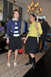 Left to right, LIZ THODY and FRANCESCA ZEDDA at an exclusive preview of fashion label Fay latest collections held at 21 Collingham Road, London SW5 on 12th June 2012.