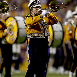 Sep 25, 2010; Baton Rouge, LA, USA; The LSU Tiger Band performs prior to a game between the LSU Tigers and the West Virginia Mountaineers at Tiger Stadium.  Mandatory Credit: Derick E. Hingle